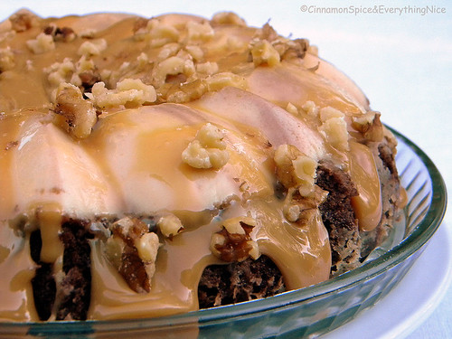 Chocoflan with Caramel and Walnuts