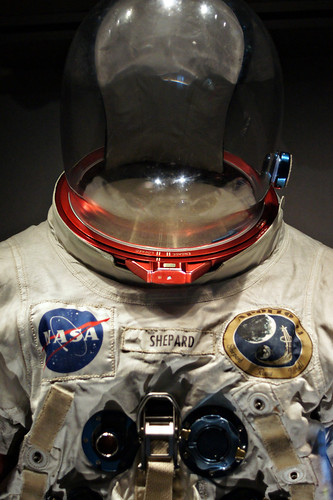 Wider view of Alan Shepard's space suit.