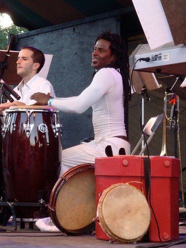 Rafi on congas