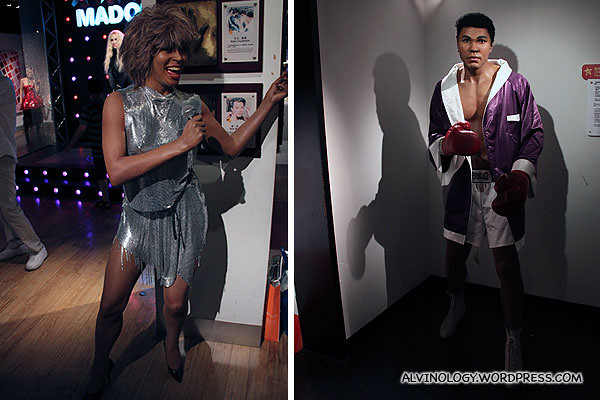 Tina Turner, Mohamad Ali - both were tucked away in the corner