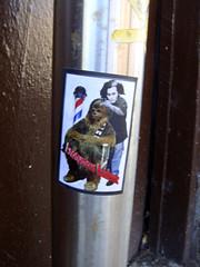 (Barrybu) Tags: street chicago art sticker barber todd chewbacca sweeny