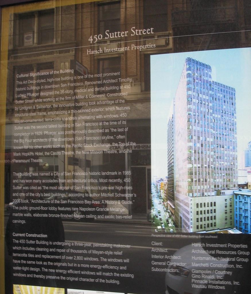 Harsch Investment Properties description of 450 Sutter Street, San Francisco