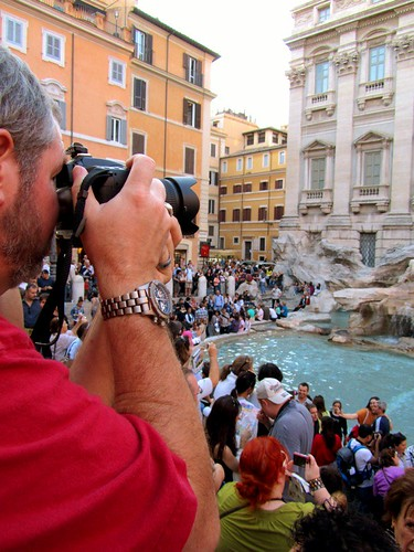 Wes at Trevi Fountain - Rome