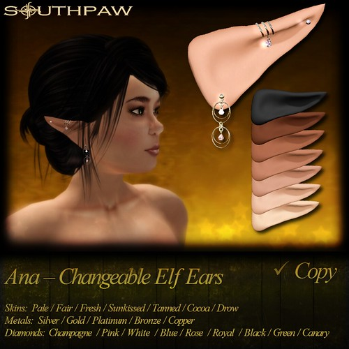 Ana - Changeable Elf Ears