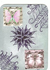 Still Butterflies - Traded (theHyperMonkey) Tags: atc collage drawing zentangle