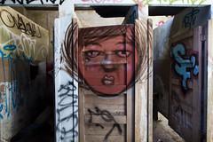 ms. red (eb78) Tags: sf sanfrancisco california ca abandoned bathroom graffiti empty urbanexploration bayarea derelict ue urbex fleishhacker gatson fleishhackerpoolhouse fleishackerpoolhouse