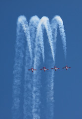 Snowbirds Loop (Angad Singh | Zone 5 Aviation) Tags: show california marine force loop aircraft military air airplanes navy canadian line airshow demonstration corps marines miramar forces snowbirds squadron rcaf mcas canadair tutor 431 abreast ct114