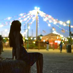 Soak It Up (Amanda) Tags: light sunset halloween girl festival night lights october bokeh maria
