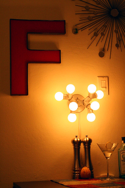View our DIY industrial wall lamp on flickr