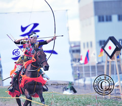 Yabusame Lady archer Japan (Glenn Waters in Japan.) Tags: horse woman beautiful japan asian japanese nikon traditional martialarts aomori  warrior archery hirosaki archer japon horseback yabusame    d700 nikond700  glennwaters nikkor85mmf14g nikkorafs85mmf14g
