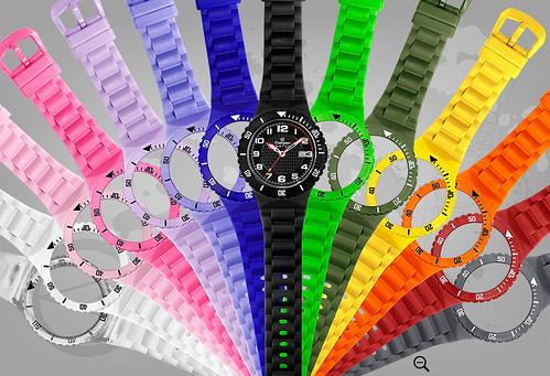 pulseiras coloridos relogio champion