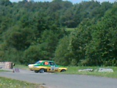 Opel Ascona A - pointing the wrong way (74Mex) Tags: old deutschland rally slowly platte timer sideways 2010 historics kleine panzerplatte moselland moselwein