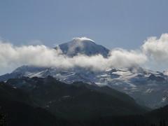 Rainier from trail to Tolmie peak.