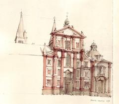 Sancte Georgi (Flaf) Tags: colour water pencil prague drawing prag praha hradschin florian barock burg prager baroq afflerbach