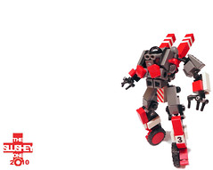 Beam Suit: Race Variant (The Slushey One) Tags: red black race grey one lego slush beam suit slushy variant slushee slushey