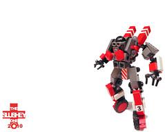 Beam Suit: Race Variant (The Slushey One) Tags: red black race grey one lego slush beam suit slushy variant slushee slushey