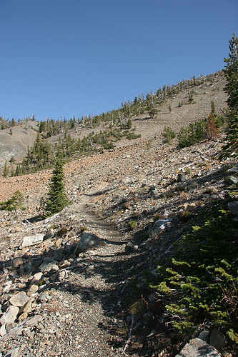 Looking towards Longs Pass