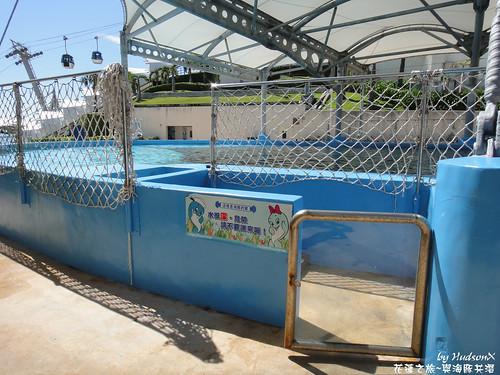海豚互動池的入口