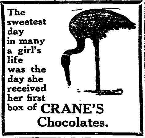 Crane's Chocolates Sweetest Day ad