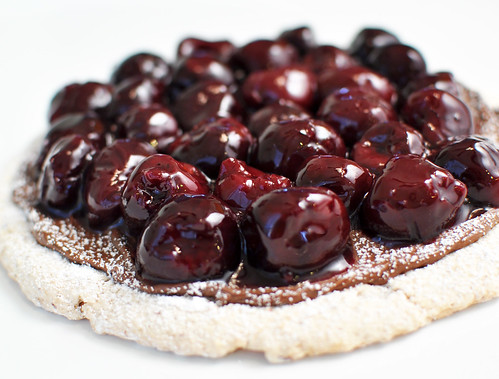 Nutella and Cherry Pizza