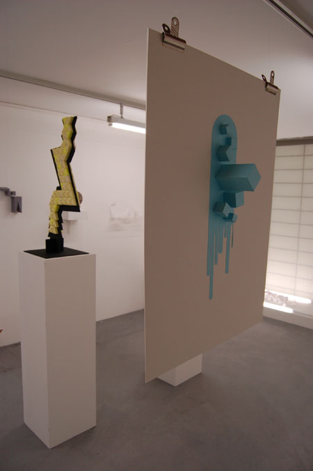 Exhibit from Chelsea art school graphic students reponse to Barney Bubbles exhibition
