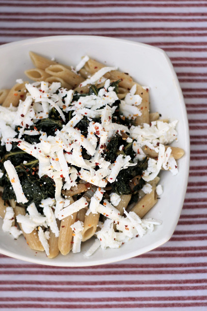 Kale and Ricotta Salata Wholegrain Penne