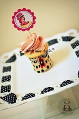 Strawberry Shortcake Tall Mini (Sweet Pudgy Panda) Tags: pink white black mini cupcake tall strawberryshortcake picnik topper buttercream sweetpudgypanda