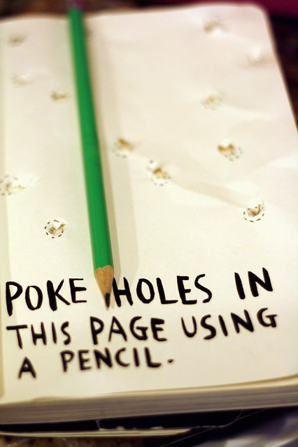 Poke Holes In This Page Using A Pencil 2