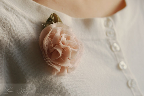 Silk flower pin