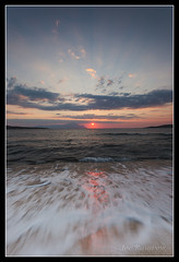 Sykia Red Sunrise (Joe Rainbow) Tags: seascape beach sunrise canon landscape greece athos halkidiki 5dmkii joerainbow