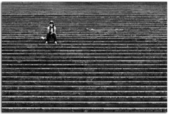 Lines (Antonio Carrillo (Ancalop)) Tags: palacio congresos escaleras lineas lines mujer woman girl granada andalucia espaa canon sigma1770 ancalop blanco negro black white bn bw art city europe minimalist