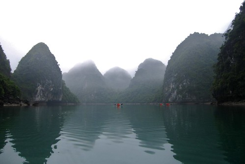 Kayaking Halong Bay... So Peaceful