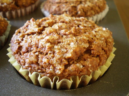 Pumpkin Bran Muffins close up