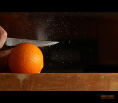 Too Much Dexter {FP} (Will (Certified Ninja)) Tags: orange knife spray sharp spoof showtime citrus dexter cuttingboard canonef50mmf18ii project365 canon50d canonspeedlight strobistsetup 580exii canon430exii ourdailychallenge