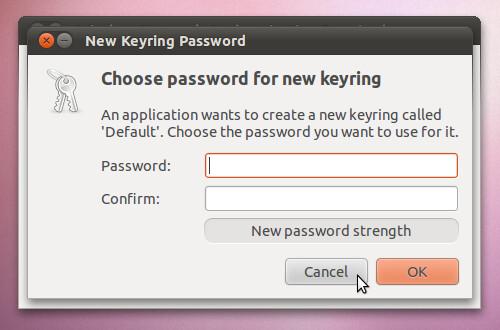 Figura 8 - Creazione password per la gestione di chiavi WPA;
