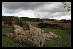 Little Kits Coty House (Matthew-Millen) Tags: england sky clouds fence landscape photo kent standingstones view tomb fields pylons northdowns maidstone