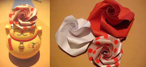 Flores espiraladas y Manineko