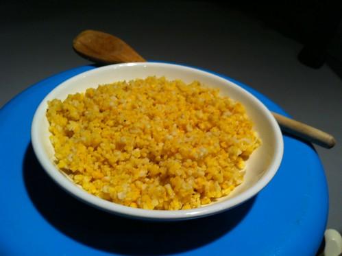 """這是粟米飯--用粟米磨成粉製成的""""飯"""""""