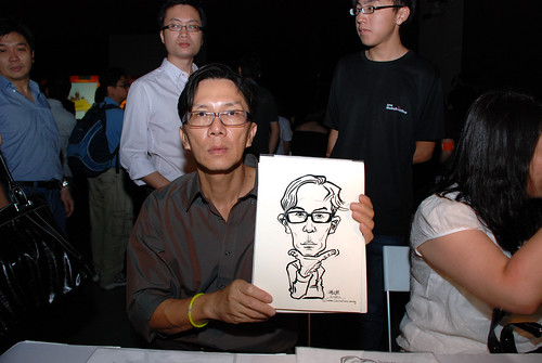 caricature live sketching for SDN First Anniversary Bash - 8