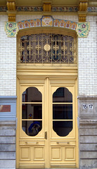 The yellow door and me (Mara Pernie ( in a chaos)) Tags: door reflection me yellow myself puerta amarillo reflejo