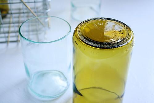 seaglass, amber tumbler