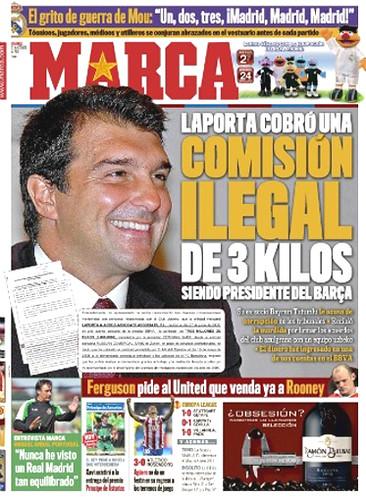 portada del periódico deportivo marca, 22-10-10