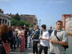 DSCF0024 (lilbuttz) Tags: venice italy students crowd tracy tourists venetianarsenal jonguilford accentflorencespring2002