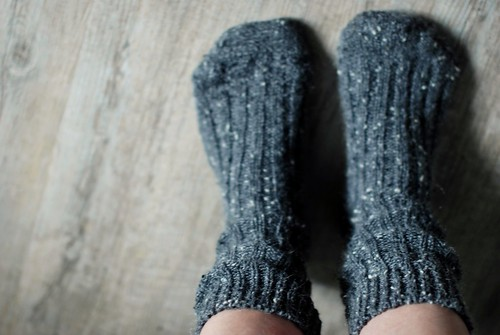 cozy weekend in irish slouchy socks...