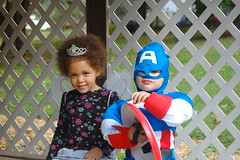 Captain America and the Snow Fairy with the Evil Grin