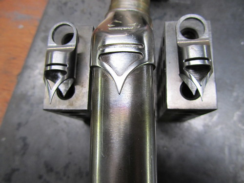 Seat stay caps hand cut to match fork crown