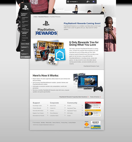 PlayStation Rewards Homepage