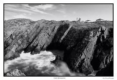 Lighthouse (Sean Rumsey) Tags: ocean new longexposure bw lighthouse canada nature water monochrome photoshop canon newfoundland landscape eos blackwhite atlantic explore 5d coastline bonavista markii lseries 2470mm 5dmkii 5dmk2 5dmark2