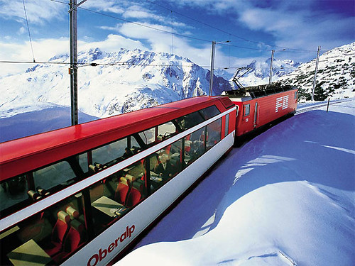 Glacier Express, Switzerland: luxury train