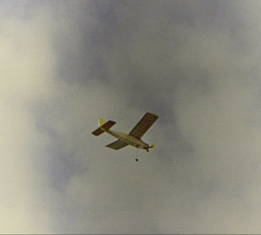 """""""C-Oh-Two"""" CO2 powered free flight model airplane"""